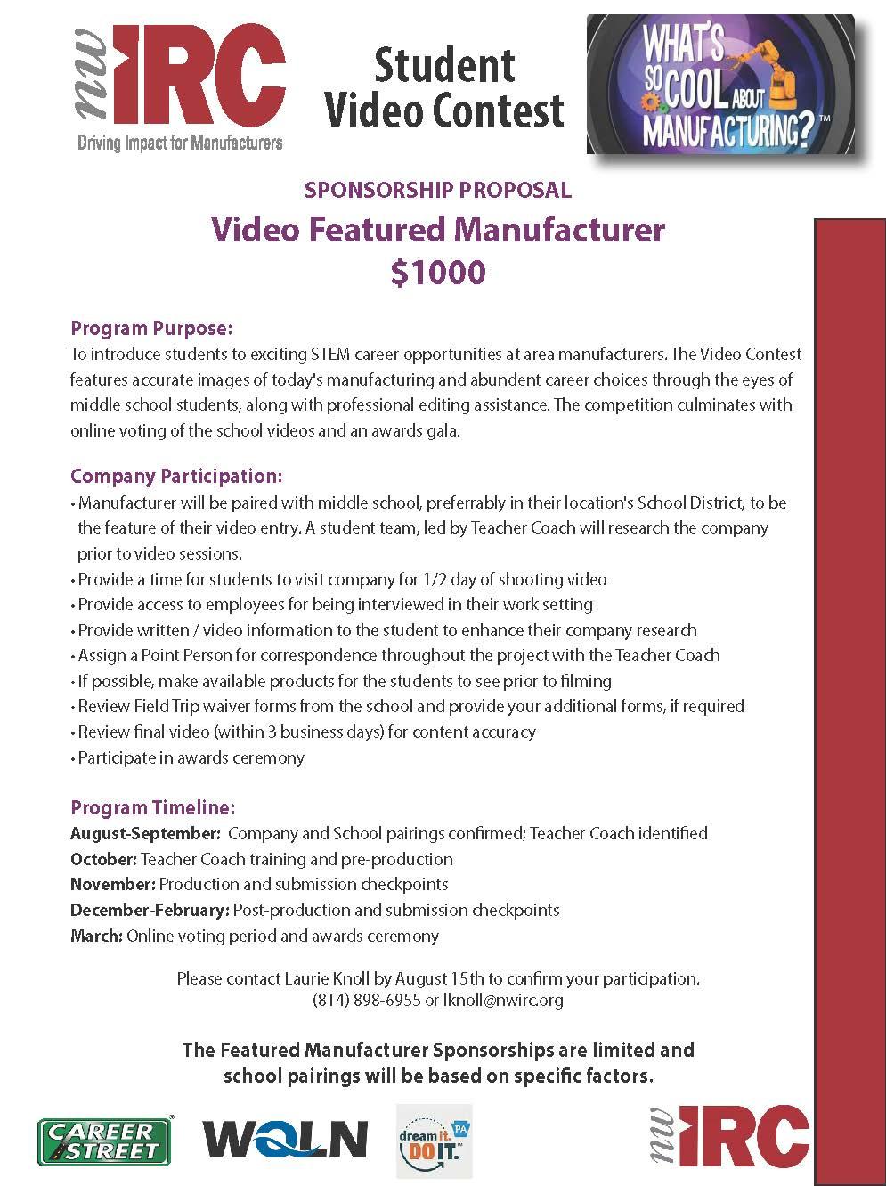 Dream It Do It Student Video Contest