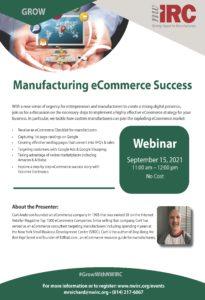 Flyer for Manufacturing eCommerce Success webinar
